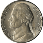 1939-S Jefferson Nickel
