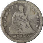 1873-S Seated Liberty Quarter Nice VG Nice Eye Appeal Nice Strike