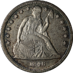1846 Seated Liberty Dollar Nice XF/AU Nice Eye Appeal Nice Luster Nice Strike