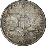 1856 Three (3) Cent Nickel
