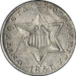 1857 Three (3) Cent Nickel