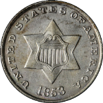 1853 Three (3) Cent Nickel