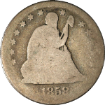 1858-P Seated Liberty Quarter