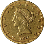 1874-S Liberty Gold $10 Nice VF Details Nice Eye Appeal Nice Strike