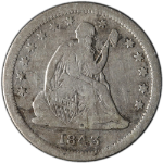 1843-O Seated Liberty Quarter