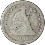 1876-CC Seated Liberty Quarter