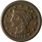 1846 Large Cent Small Date