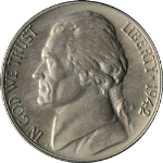 1942 Jefferson Nickel Proof - Type 2
