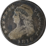 1814 Bust Half Dollar Choice VG+ 0-105 R.2 Nice Eye Appeal Nice Strike