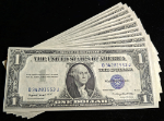 FR. 1616 $1 1935-G Silver Certificate 553-569 17pc Consec Choice CU