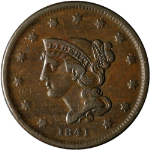 1841 Large Cent - N-5 R.2