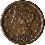 1846 Large Cent - N-1 R.1