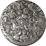 2017 $5 Gods of Olympus 5 Ounce Silver High Relief -Perth Mint Australia OGP COA