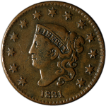 1831 Large Cent Choice VF/XF N.3 R.1 Great Eye Appeal Nice Strike
