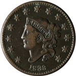 1833 Large Cent Choice VF/XF N.5 R.1 Great Eye Appeal Nice Strike