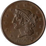 1839 Large Cent Booby Head Nice Unc Details N.10 R.3 Great Eye Appeal