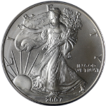 2007-W Silver American Eagle $1 ICG SP70 First Day of Issue