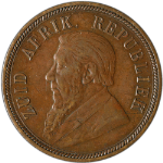 1898 South Africa 1 Penny KM-2 Choice VF/XF Great Eye Appeal Nice Luster