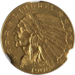 1908 Indian Gold $2.50 NGC MS62 Nice Eye Appeal Nice Luster Nice Strike
