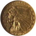 1910 Indian Gold $2.50 NGC MS62 Great Eye Appeal Nice Luster Nice Strike