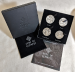 2016 Cook Islands 2 Ounce Antiqued Silver Gods of Olympus Part I -4 Coin Set OGP