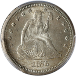 1876-S Seated Liberty Quarter PCGS MS63 Great Eye Appeal Nice Strike