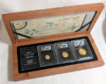 2005 South Africa Mint Gold Natura Set - Giants of Africa Hippo 3 Coin Proof