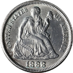 1888-P Seated Liberty Dime