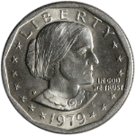 1979-P Susan B. Anthony Dollar - Near Date