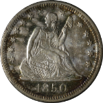 1850-O Seated Liberty Quarter Nice AU Key Date Nice Eye Appeal Nice Strike