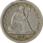 1841-O Seated Liberty Quarter