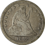 1842-O Seated Liberty Quarter