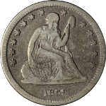1859-O Seated Liberty Quarter Nice VF Superb Eye Appeal Nice Strike