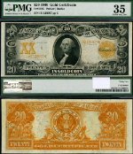 FR. 1185 $20 1906 Gold Certificate PMG Choice VF35