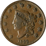 1833 Large Cent N.5 R.1 Horned 8