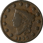 1822 Large Cent N.12 R.4