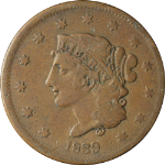1839 Large Cent - Booby Head