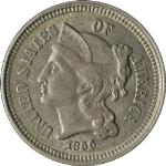 1866 Three (3) Cent Nickel