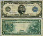 FR. 859 A $5 1914 Federal Reserve Note Cleveland Fine+