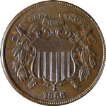 1866 Two (2) Cent Piece - Great Color