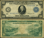 FR. 910 $10 1914 Federal Reserve Note New York VG