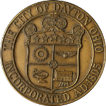 "City of Dayton Ohio Incorporated 1805 - Medallic Art Bronze 2.75"" Original Box"