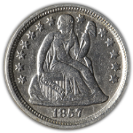 1857-P Seated Liberty Dime