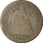 1843-O Seated Liberty Dime Nice G Nice Eye Appeal Nice Strike