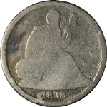 1838-O Seated Liberty Dime