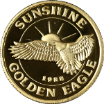 Sunshine Mining 1 Troy Ounce .999 Fine Gold - Sunshine Golden Eagle - 1988