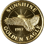 Sunshine Mining 1 Troy Ounce .999 Fine Gold - Sunshine Golden Eagle - 1987