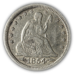 1854-P Seated Liberty Quarter