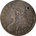 1815/2 Bust Half Dollar Holed VG/F Details 0-101 R.2 Decent Eye Appeal