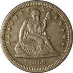 1859-S Seated Liberty Quarter XF/AU Details Key Date Nice Eye Appeal Nice Strike